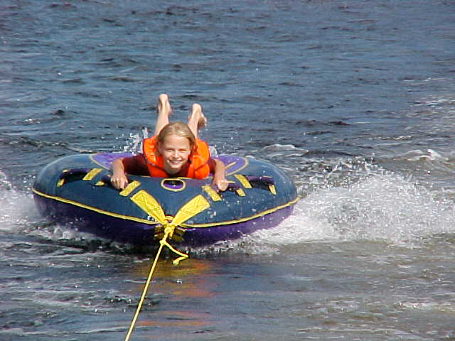 guest photo: Roeben daughter tubing photo
