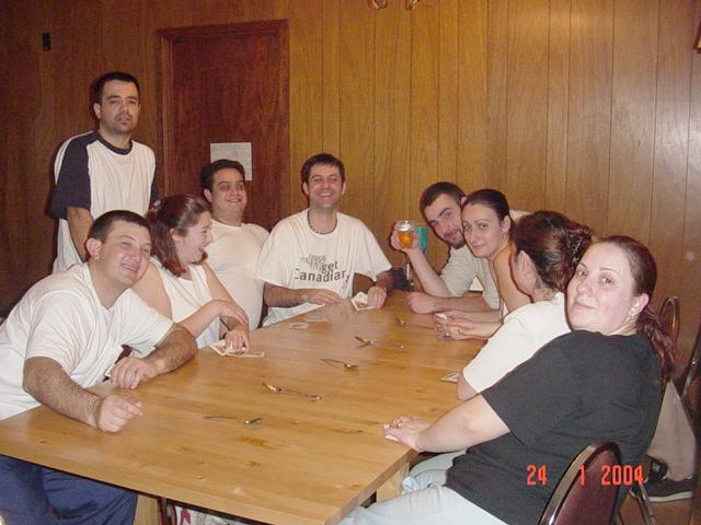 guest photo: Marta and gang playing card game