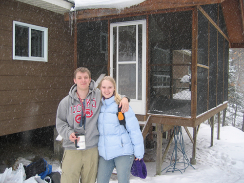 guest photo: Max and Anna and snow