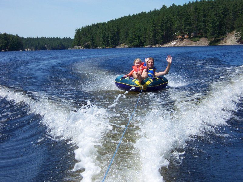 guest photo: Jason and Grace tubing