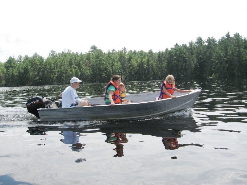 guest photo: Burtch Family in motor boat